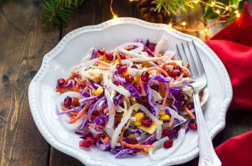 Салат с гранатом - рецепты с фото. Как приготовить вкусные салаты с гранатовыми зернами на праздничный стол