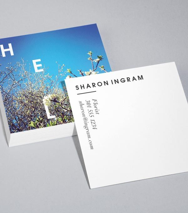17 Best ideas about Square Business Cards on Pinterest | Simple ...