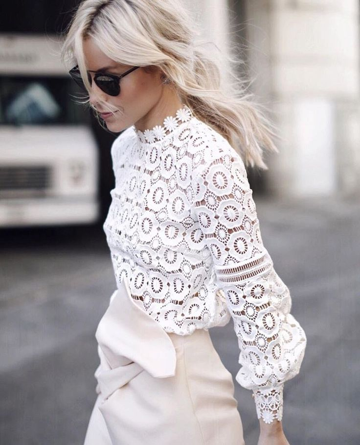 1000  ideas about White Lace Tops on Pinterest | White tops ...