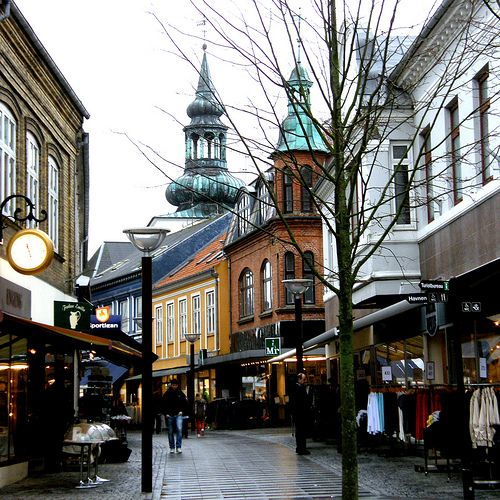 I lived in this amazing little town for a year! - Lemvig walking street