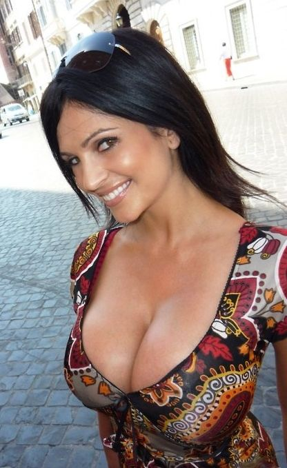 Traffic stopper. Denise Milani