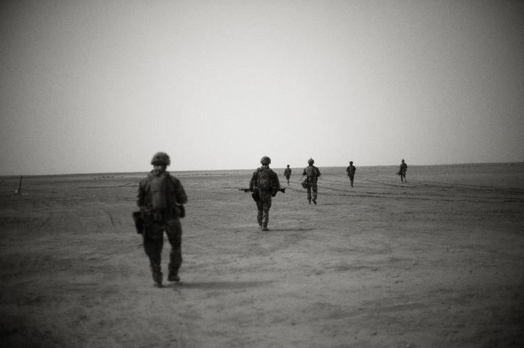 Danske soldater på patrulje.