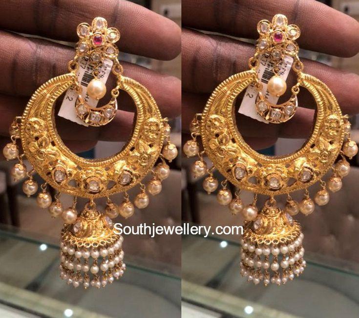 Antique Big Chandbalis - Jewellery Designs