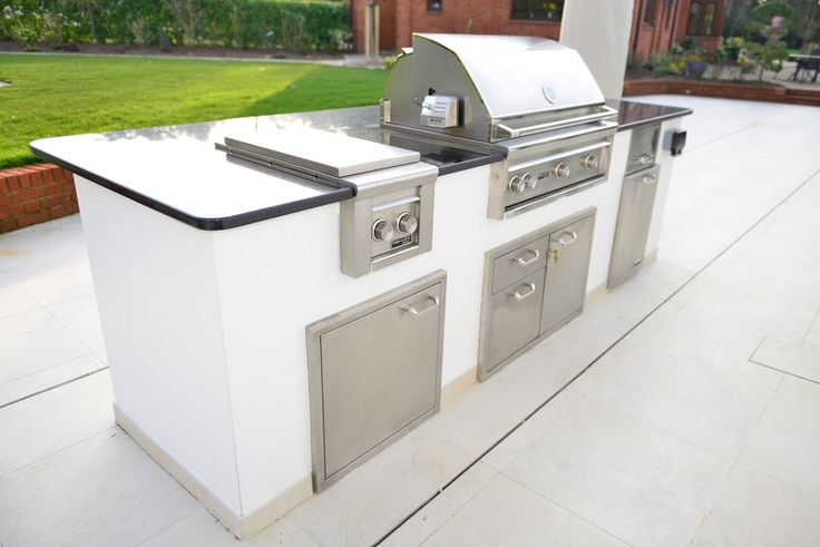 White outdoor kitchen by Indian Ocean