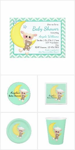 Lamb and Crescent Moon Baby Shower