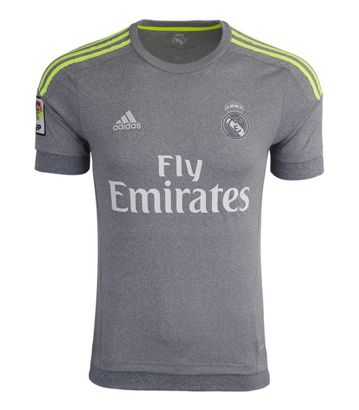 39d88ac83 ... Grey 2015-16 Short Sleeve La Liga Jersey Cheap Adidas Youth Real Madrid  Away Replica Soccer Jersey Father day sale ...