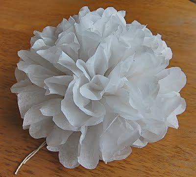 saltbox treasures: How to Make Pom Pom Tissue Flowers