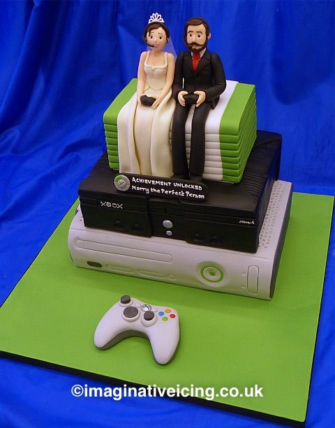 Geek Gaming Xbox Wedding Cake