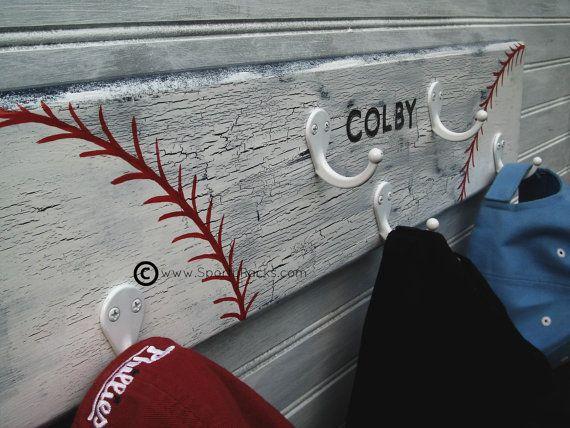 Little League Baseball Softball Hat Rack Hanger 5 by sportyracks