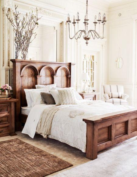 Eclectic Bedroom Vintage Side Tables