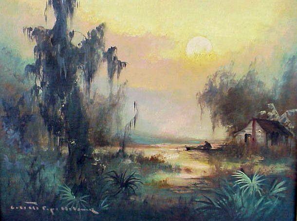 Cypress Tree Swamp Oil Paintings Florida