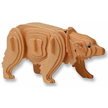 3-D Wooden Puzzle - Polar Bear -Affordable Gift for your Little One! Item #DCHI-WPZ-M023