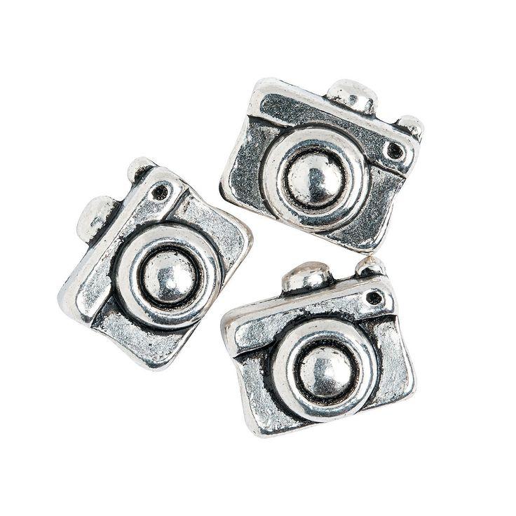Camera Large Hole Beads - 11mm - OrientalTrading.com