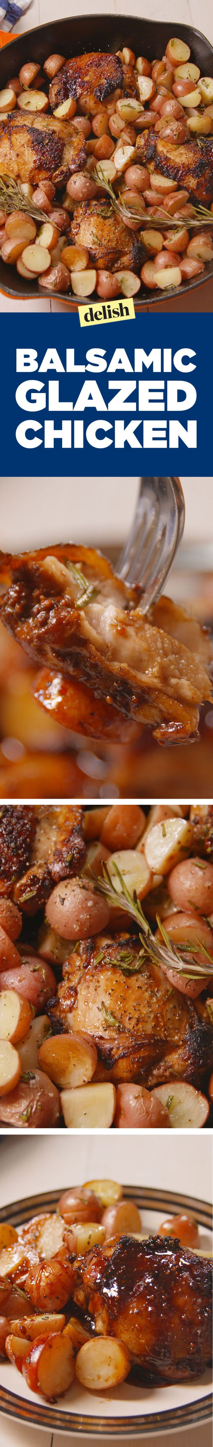 Balsamic Glazed Chicken - Delish.com