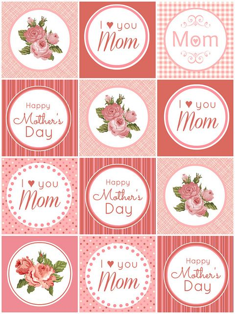 Free printable Mothers Day Cupcake Toppers by lovebakesgoodcakes, {stunning!}