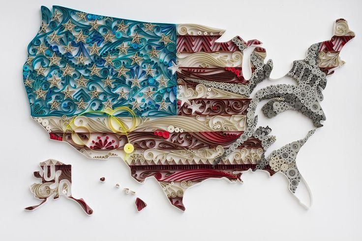 USA   #quilling #paper #art #paperquilling #america #usa #starsandstripes #statueofliberty #zentangle #geography #map #flag #country #design #paperart #アメリカ #自由の女神 #地図 #国旗 #地形 #国 on #canson