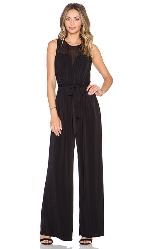 Shop for RACHEL ZOE Dov Sheer Neck Jumpsuit in Black at REVOLVE. Free 2-3 day shipping and returns, 30 day price match guarantee.