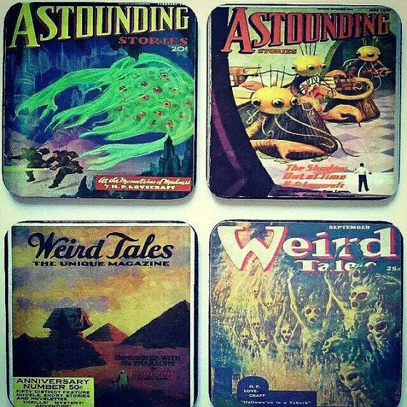 H P LOVECRAFT Weird Tales Coasters