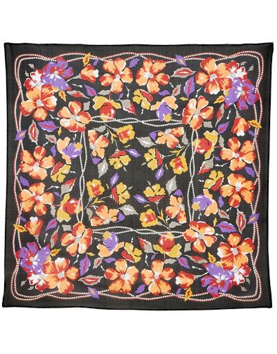 Silk scarf ''Clematis'' | RusClothing.com