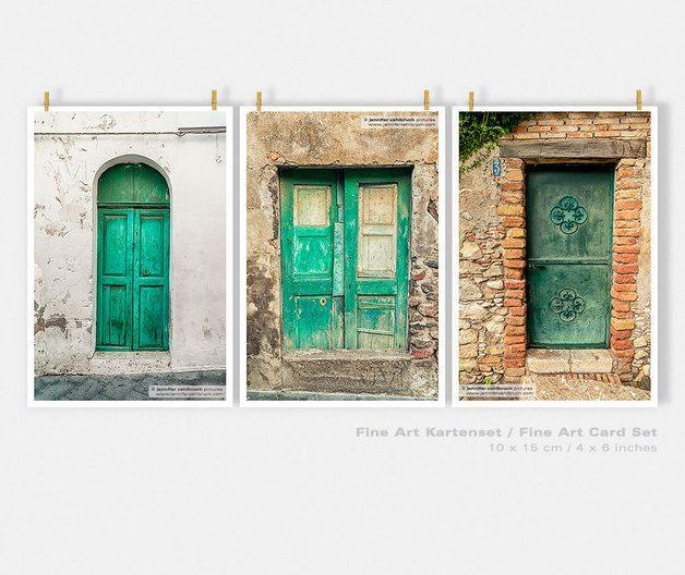 """Fine Art Karten-Set """"Italiens grüne Türen""""                              …"""