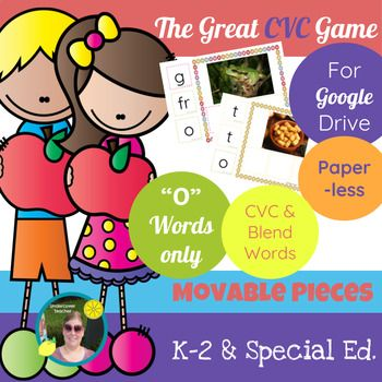 This is the digital, paperless version of The Great CVC Game (O Words Only) for Google Drive/Docs. Great for beginning readers and writers who use a tablet or Chrome book with access to Google Drive/Docs. Using this resource will require internet access for