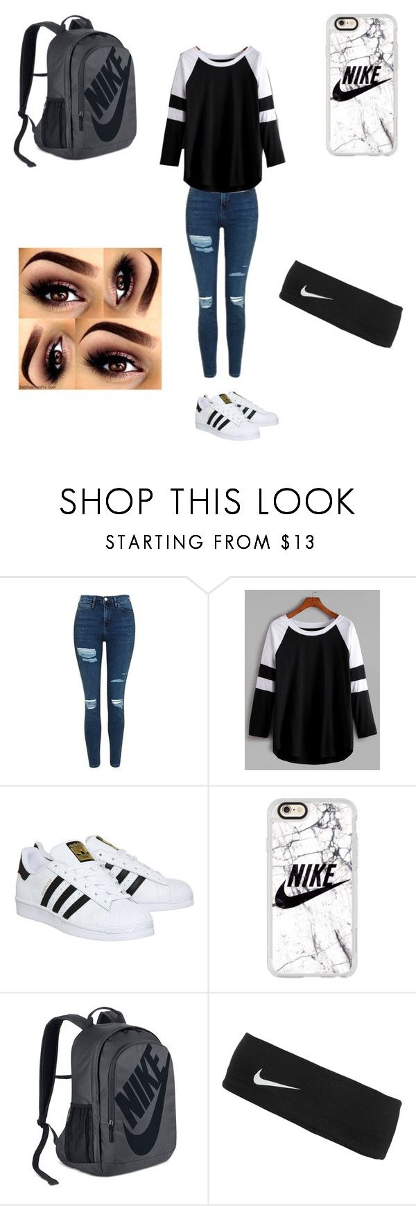"""Whateva"" by roxas-lightwood on Polyvore featuring Topshop, adidas, Casetify and NIKE"