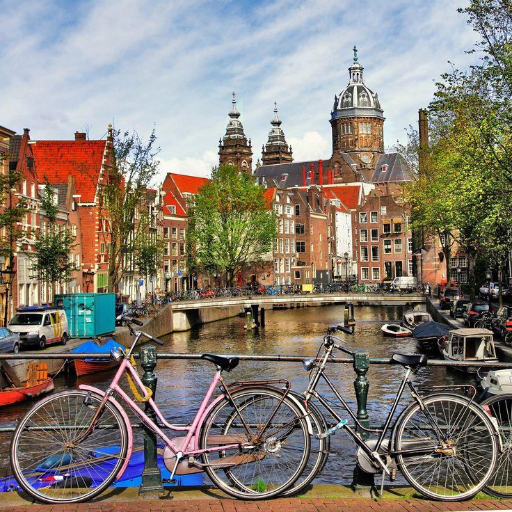 Amsterdã no outono = clima perfeito para andar de bike!