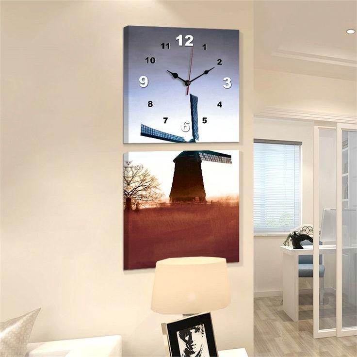 壁時計 壁絵画時計 静音時計 壁掛け時計 オシャレ 1枚パネル 日の入り