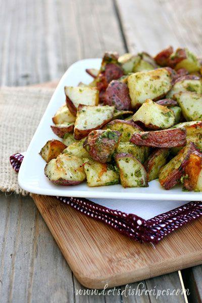 Roasted Pesto Potatoes on MyRecipeMagic.com