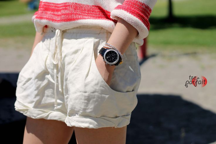 for cream linen shorts x simple arm candy: Arm Candy, Linens Shorts, Cream Linens, Simple Arm, Arm Candies, Linen Shorts