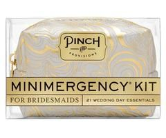 Minimergency Kit for Bridesmaids - Silver/Gold Swirl
