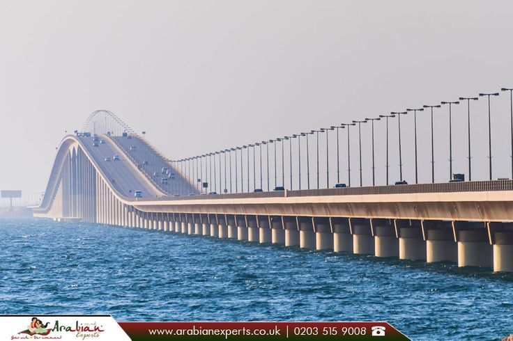 King Fahd Causeway     The King Fahd Causeway is a series of #bridges and #causeways connecting Saudi Arabia and #Bahrain.      Source: https://en.wikipedia.org/wiki/King_Fahd_Causeway     ☎ Call us: 0203 515 9008    Visit for more details: http://www.arabianexperts.co.uk/     #travel #travelmiddleeast #kingfahdcauseway #saudiarabia #flightstosaudiarabia #flightstobahrain  #cheapflightstosaudiarabia #cheapflightstobahrain #flightoffers  #arabianexperts #travelagents