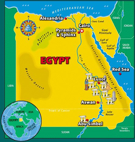 Kid Facts - Fun daily facts for kids: Egypt : Let's keep learning about the countries in the continent of Africa .  Last time we learned abo...