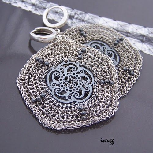#iwogg, #koronki, #silver, #wirewrapping