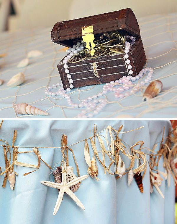 * starfish garland around table  Little Mermaid Party: Under the Sea Adventure! // Hostess with the Mostess®