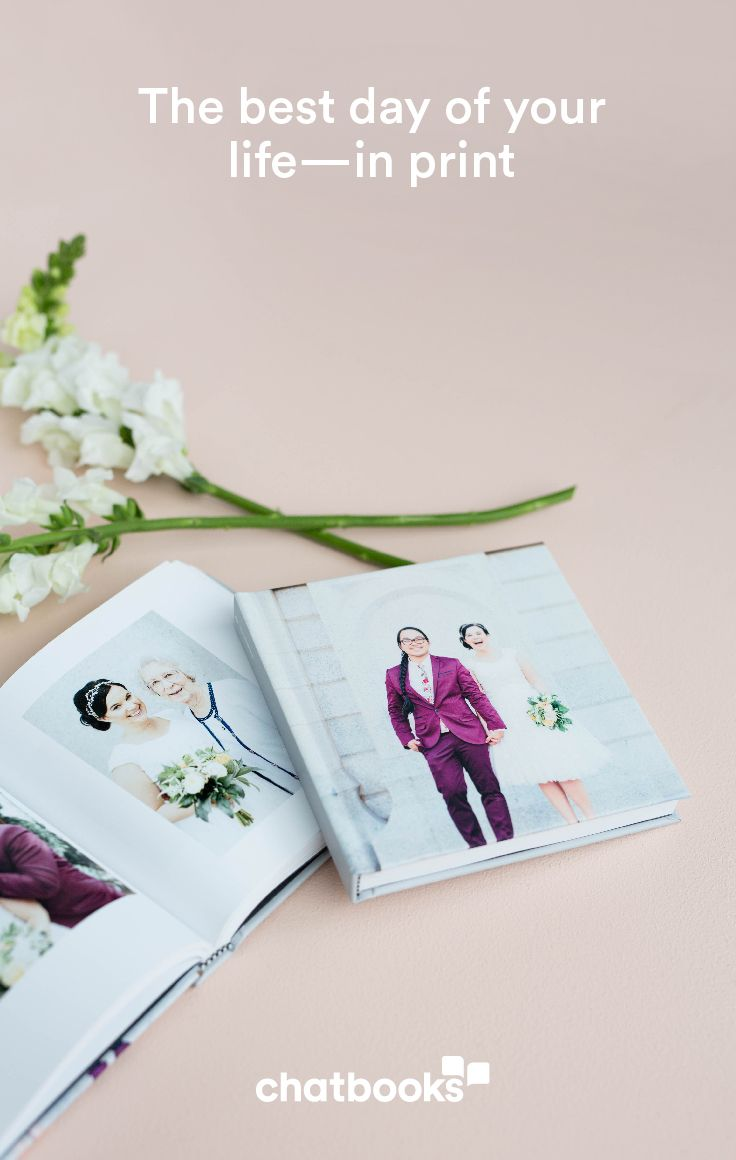 Create a simply elegant wedding album in minutes.  Custom photo book that can be up to 366 pages starting at $15.