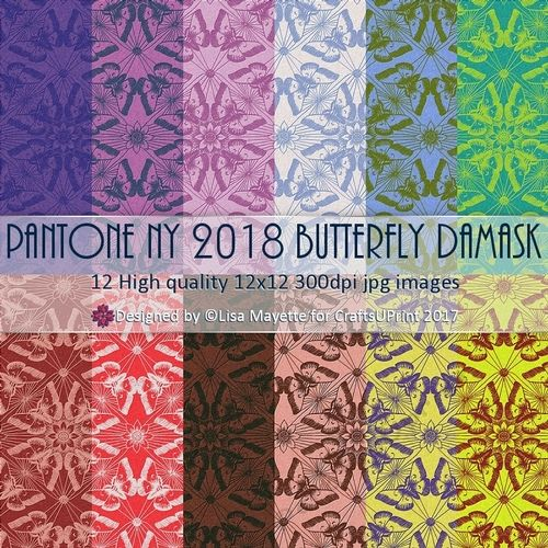 pantone ny 2018 spring summer butterfly damask papers by lisa