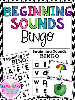This product includes:60 Bingo Cards in B&W  ( 30 lowercase, 30 capital)A-Z Beginning Sounds Bingo Cards in colorPerfect for:- Fun Fridays- Sub Tub- Literacy Centers- RTI/ Basic Skills- ELL/ESL  Check out THESE Alphabet Activities below!  Click here for Roll and Read Letter Sounds by Elementary at HEART Click here for Alphabet Letter Sort by Elementary at HEART Click here for teddy Bear Letter Recognition Flash Cards by Elementary at HEART Click here for Beginning Sounds Identification Co...