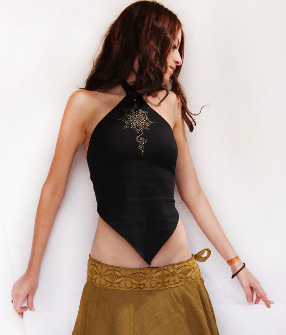 Pixie top. Faery top, festival, top, burning man, elven tank top, tribal top, cyber punk, leaf top