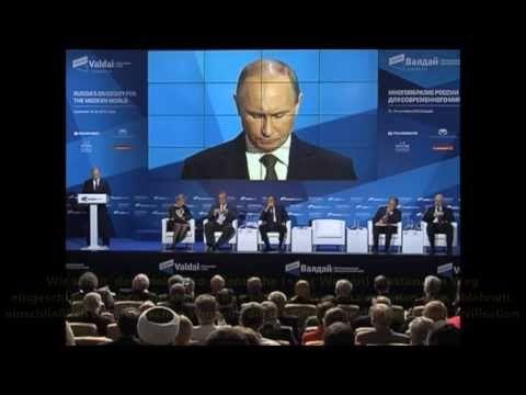 """INTERESSANTE REDE VON PUTIN!!!!! """"Russlands Präsident Wladimir Putin über Europas Kulturverfall (bzw. über Kulturverfall der gesamten westlichen Zivilisation). Ausschnitt der Rede von Wladimir Putin im Valdai-Forum, 19 September 2013."""" http://www.youtube.com/watch?v=Dv32-PuW1XQ#t=18"""