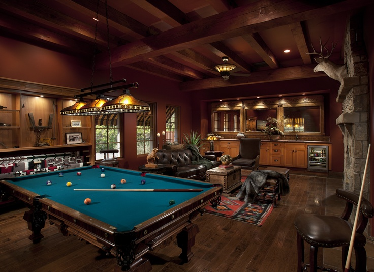Living room complete with pool table