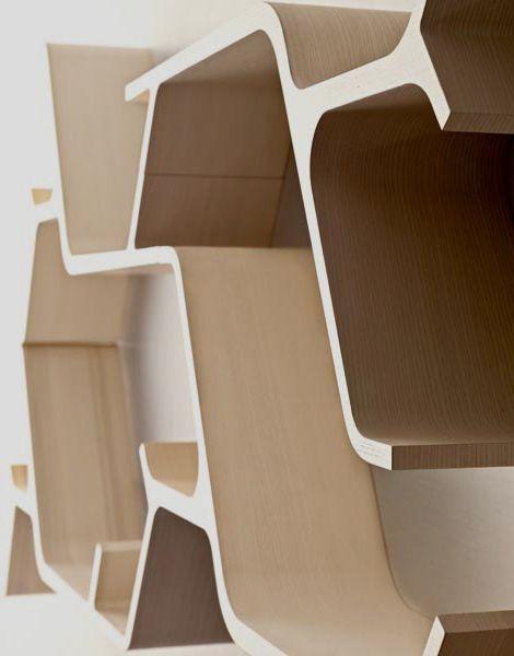 Modular Shelving Design by Horm: the 'living' shelf