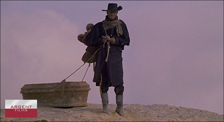"Franco Nero is ""Django"" the iconic protagonist of this cool Spaghetti Western.  Directed by Sergio Corbucci."