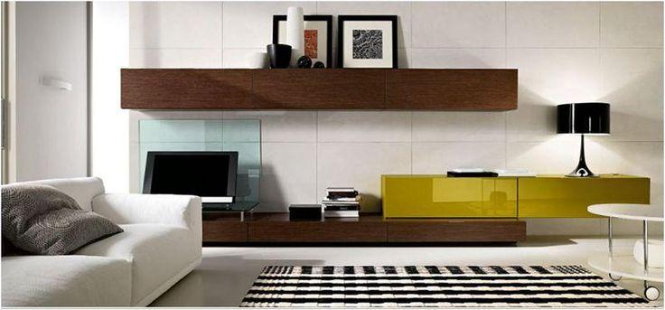 soggiorno marrone con porta tv in vetro Bergamo | muri | Pinterest