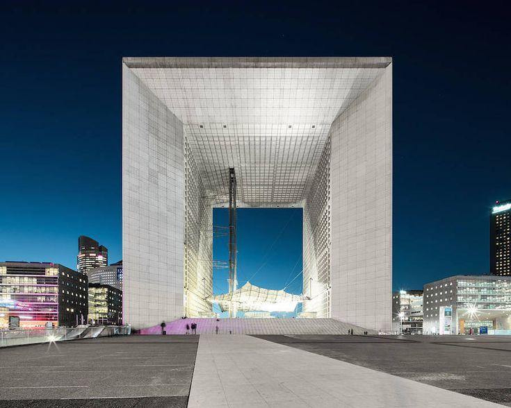 La Défense District in Paris at Night