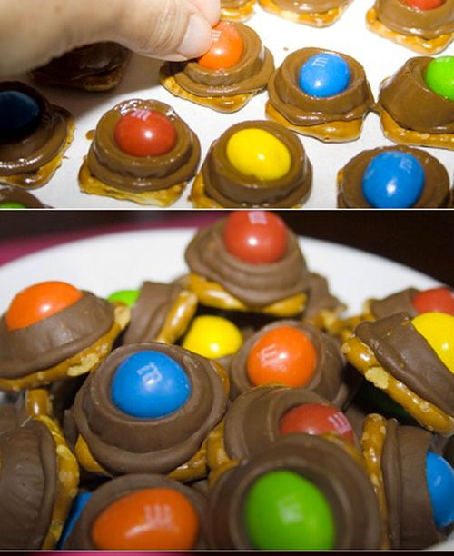 and M's Rolo Pretzel Bites | sweets and desserts | Pinterest