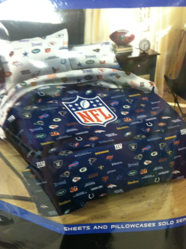 NFL bedding | Johnathan-NFL Bedroom Ideas | Pinterest | Room