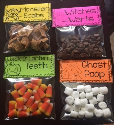 FREE labels for Halloween treat bags!