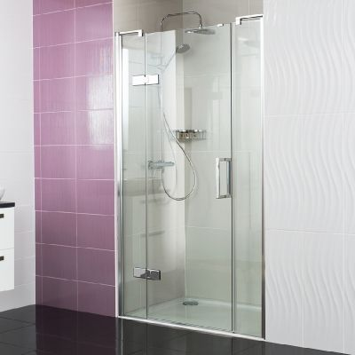 Decem Hinged Door with Two Inline Panels for Alcove Fitting --- Our Decem Hinged Door with Two Inline Panels will perfectly fill a larger alcove space, to create a beautiful style statement. --- Available from Roman Ltd - British Made Luxury Shower Enclosures and Bath Screens. Images Copyright www.roman-showers.com