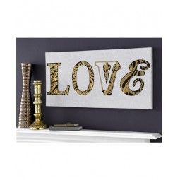 Canvas Art Sequined Love, with beautiful intricate embellishments, metallic effect and beautiful design.